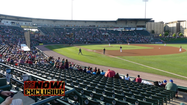 Frontier Field, during the 1st inning - Red Wings vs Lehigh Valley IronPigs, September 1, 2018 - photo by Joe Bradt