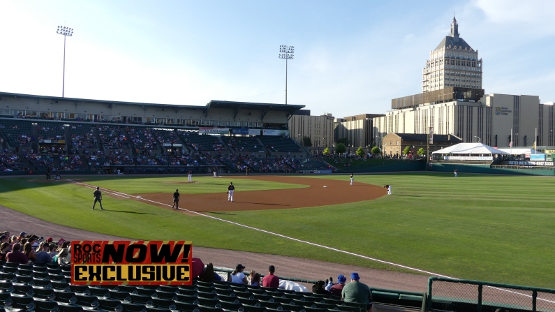 Shot of the field during the 1st inning - Red Wings vs Lehigh Valley IronPigs, September 1, 2018 - photo by Joe Bradt