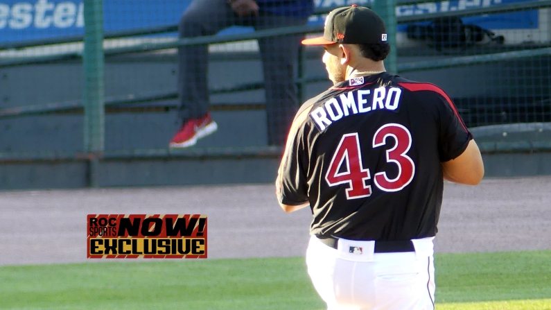 Fernando Romero delivering a pitch in the 1st inning - Red Wings vs Lehigh Valley IronPigs, September 1, 2018 - photo by Joe Bradt
